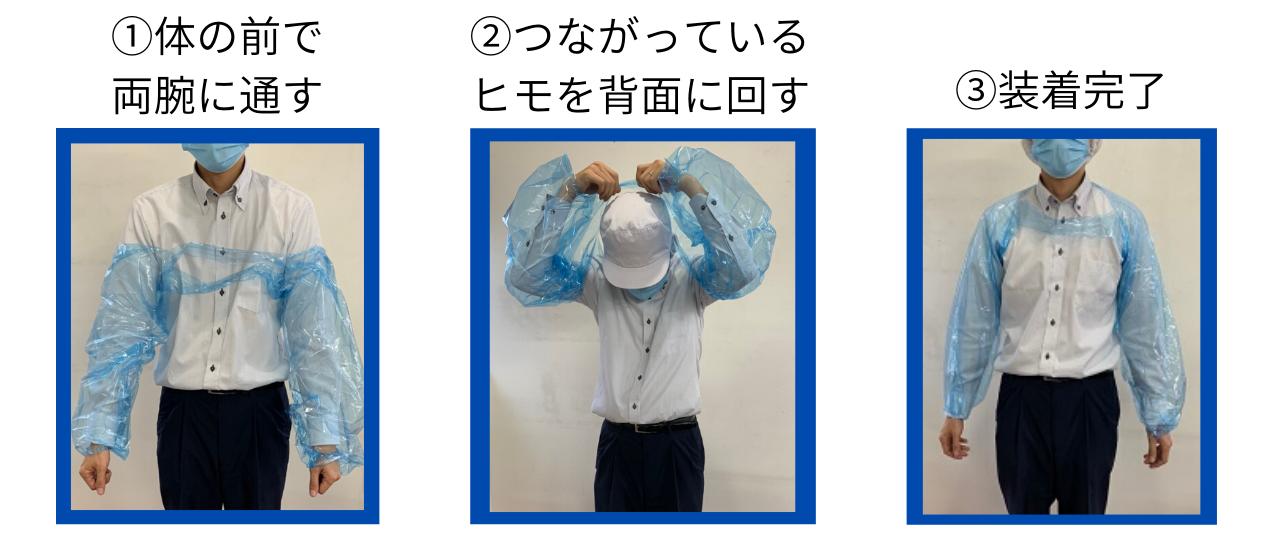 腕カバー装着方法画像